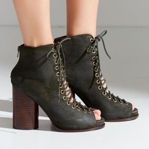 Jeffrey Campbell | Free Love Suede Lace Up Heel 10